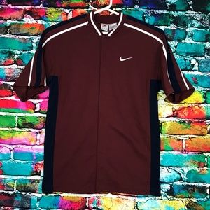 Nike Embroidered Basketball Snap Button Mens Large